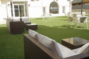La terraza del Hotel Playa de Merón San Vicente de la Barquera